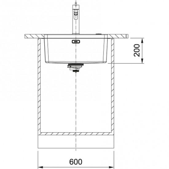 Franke Mythos MYX 110-50 Inox Tezgah Altı Pazlanmaz Çelik Evye