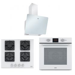 Franke Smart Linear 60 Cm Beyaz Cam 3 Lü Ankastre Set