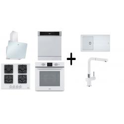 Franke Smart Linear 60 Cm Beyaz Cam 6 lı Ankastre Set