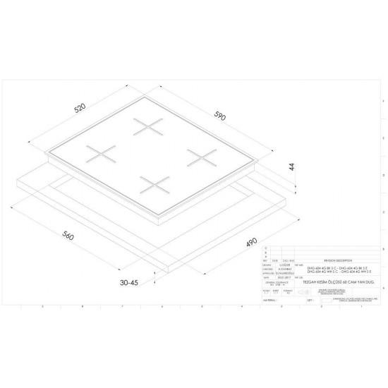 DOMİNOX - Beyaz Cam Ankastre Set1