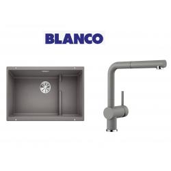 Blanco 700 U Level  Tezgah Altı 1.5 Gozlu Alu Metallic Evye + Blanco Linus S Spiralli Alu Metallic Armatür Kampanyası
