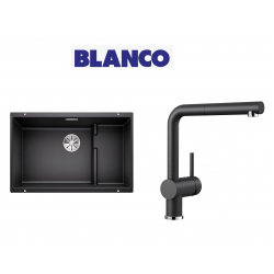 Blanco 700 U Level  Tezgah Altı 1.5 Gozlu Antrasit Evye + Blanco Linus S Spiralli Antrasit Armatür Kampanyası