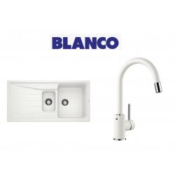 Blanco Sona 6 S Tezgah Üstü 1.5 Gozlu Beyaz Evye + Blanco Mida S Spiralli Beyaz Armatur Kampanyası