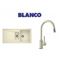 Blanco Sona 6 S Tezgah Üstü 1.5 Gozlu Jasmin Evye + Blanco Mida S Spiralli Jasmin Armatur Kampanyası