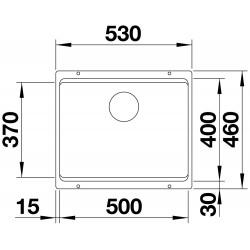 Blanco Etagon 500 U Tezgah Altı Tek Hazneli Damlalıksız Granit İnci Gri  Evye