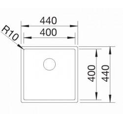 Blanco Claron  400 IF  Tezgah Üstü / Tezgaha Sıfır Tek Gözlü Paslanmaz Çelik Evye