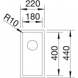 Blanco Claron  180 IF  Tezgah Üstü / Tezgaha Sıfır Tek Gözlü Paslanmaz Çelik Evye