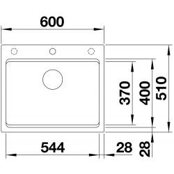 Blanco Etagon 6 Tezgah Üstü 1 Gözlü  Damlalıksız  Beyaz  Granit Evye