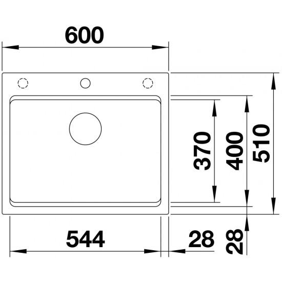 Blanco Etagon 6 Tezgah Üstü 1 Gözlü Damlalıksız Kahve Granit Evye