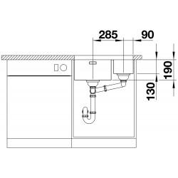 Blanco Andano 340 / 180 IF Küçük Hazne Sağda  Tezgah Altı 1.5 Gözlü Çelik Evye