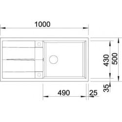 Blanco Metra XL 6 S Tezgah Üstü 1 Gözlü Geniş Hazneli İnci Gri Granit Evye