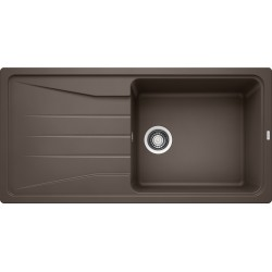 Blanco Sona XL 6 S Tezgah Üstü 1 Gözlü Her iki Yöne Kullanılabilir Kahve Granit Evye