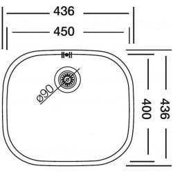 Dominox DML 110-45 Tezgah AltI Dekorlu Çelik Evye