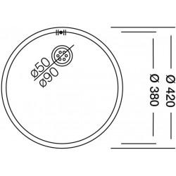Dominox DML 110 Tezgah Altı Dekorlı Yuvarlak Çelik Evye