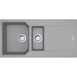 Franke Urban UBG 651-100 Fragranite Stone Grey Tezgaha Sıfır / Üstü 1.5 Gözlü Granit Evye
