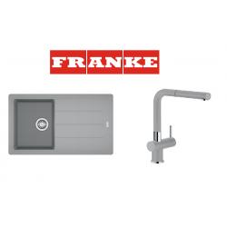 Franke Basis BFG 611-86 Fragranite Stone Grey + Active Plus Stone Grey Armatür Kampanyası