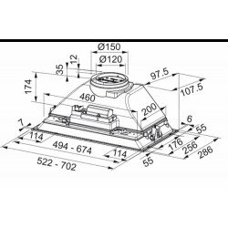 Franke Box FBI 525  GR/500 Light Grey  Gömme Aspirator