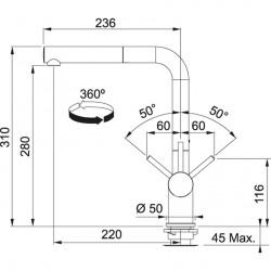 Franke Active Plus Doccia  Spiralli Granit Bianco / Beyaz Armatür