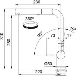 Franke Active Plus Duşlama özellikli spiralli Gun Metal Armatür