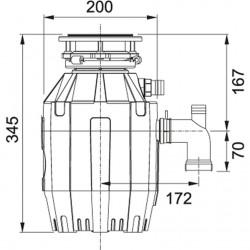 Franke TE-50  1 / 2 Beygir Güçlü Çöp Öütücü
