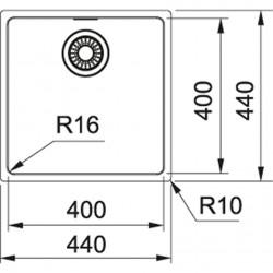 Franke Maris MRX 110-40 İnox  Tezgah Altı Paslanmaz Çelik Evye