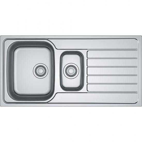 Franke Spark SKX 651 İnox  1.5 Gözlü Tezgah Üstü Sol Damlalıklı Çelik Evye