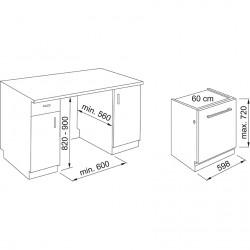 Franke Bulaşık Makinesi FDW 614 D6P DOS E  Tam Ankastre Bulaşık Makinesi