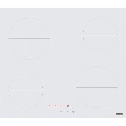 Franke Cam Seramik FHR 604 C T WH White Glass  4 Gözlü Beyaz Cam Elektrkli Ocak