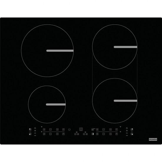 Franke FBI 5322 6R/500 FSM 654 I B BK Black  4 Gözlü 65 Cm Tezgah Üstü / Tezgaha Sıfır  İnduksiyonlu Siyah Ankastre Ocak