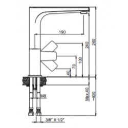 Marmorin Azur Spiralsiz Batarya/Armatur Altın/Dore