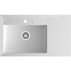 Marmorin İvo 850 1 KO  Tezgaha Sıfır Beyaz Granit Evye