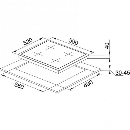 Franke New Glass FHNG 604 3G 1E BK C Cristallo Nero Cam Ocak