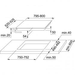 Franke Glass 80 cm FHBP 774 BD Cristallo Nero Seramik Cam  Elektrkli Ocak