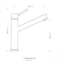 Schock ALTOS Tek elcikli Spiralli Paslanmaz Çelik Armatür