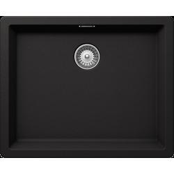 Schock BROOKLYN N-100 L  Tezgah Altı / Tezgah Üstü  Damlalıksız Granit Nero / Siyah Evye