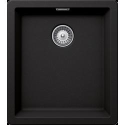 schock BROOKLYN N-100S Tezgah Üstü / Tezgah Altı Damlalıksız  Granit  Nero / Siyah Evye