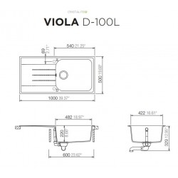 Schock  Viola D 100 Large Geniş Hazneli Tezgah Üstü Siyah Granit Evye