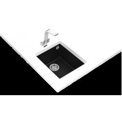 Teka SQUARE 34.40 TG Tek Hazneli Tezgah Altı Damlalıksız Black / Siyah Granit Evye