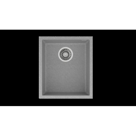 Teka SQUARE 34.40 TG Tek Hazneli Tezgah Altı Damlalıksız Stone Grey Granit Evye