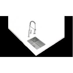 TekaBE LINEA 27.40 RS15 Tezgah Altı Damlalıksız Tek Hazneli Paslanmaz Çelik Evye