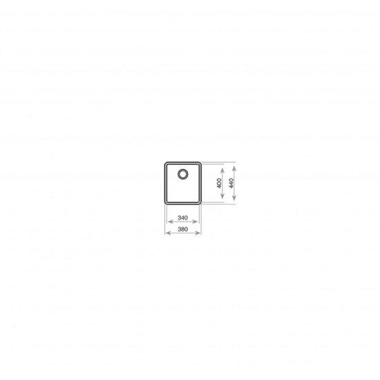 Teka BE BE LINEA 34.40 RS15 Tezgah Altı Damlalıksız Tek Hazneli Paslanmaz Çelik Evye