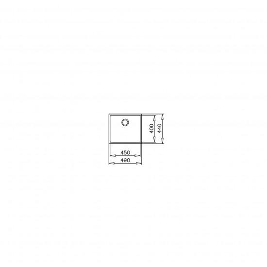 Teka BE LINEA 45.40 RS15 Tezgah Altı Damlalıksız Tek Hazneli Paslanmaz Çelik Evye