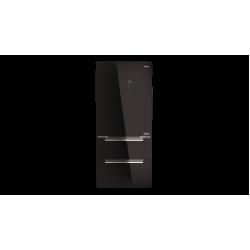Teka RFD 77820 4 Kapılı A++ Enerji seviyeli 192 cm Siyah Cam Buzdolabı