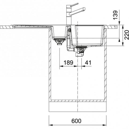 Franke Urban UBG 651-100 Granit Nero Tezgaha Sıfır / Üstü Evye