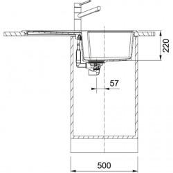 Franke Urban UBG 611-86 Tezgah Üstü / Sıfır  Stone Grey Evye