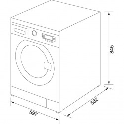 Franke Solo Çamaşır Makinesi FWMF 1209 D SIL