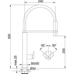 Franke Centinox Spiralli Paslanmaz Çelik Armatür