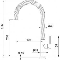 Franke Maris Free by Dror Spiralsiz Stainless Steel Optic Armatür