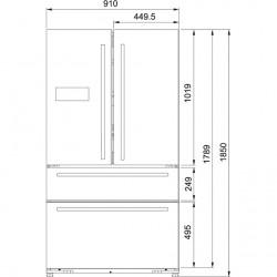 Franke Side by Side FRFD 6020 NF XS A+ Paslanmaz Çelik Gardırop Tipi Buzdolabı