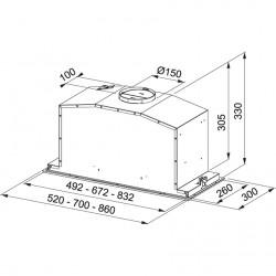 Franke Box Plus Glass FBI 537 XS/BK Siyah Ankastre Gömme Davlumbaz